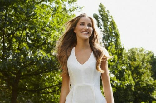 woman white dress spring Add Some Spring to Your Wardrobe - EAT LOVE SAVOR International luxury lifestyle magazine and bookazines