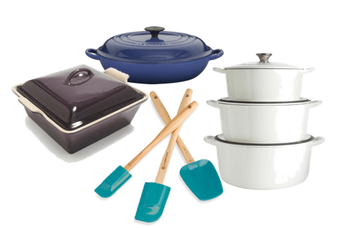 Assorted Le Creuset Discover: Le Creuset - Luxury Cookware, Tomorrow's Heirlooms - EAT LOVE SAVOR International luxury lifestyle magazine, bookazines & luxury community