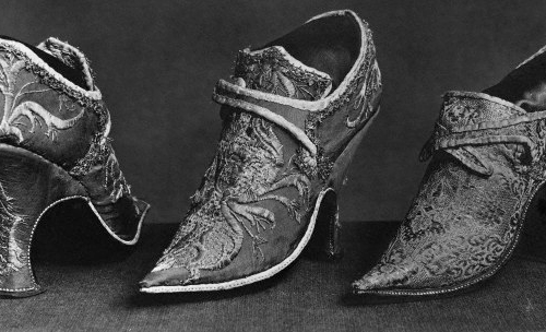 Womens shoes from Reign of Louis XV 1699 France Paris Cluny Museum History of the Shoe - EAT LOVE SAVOR International luxury lifestyle magazine, bookazines & luxury community