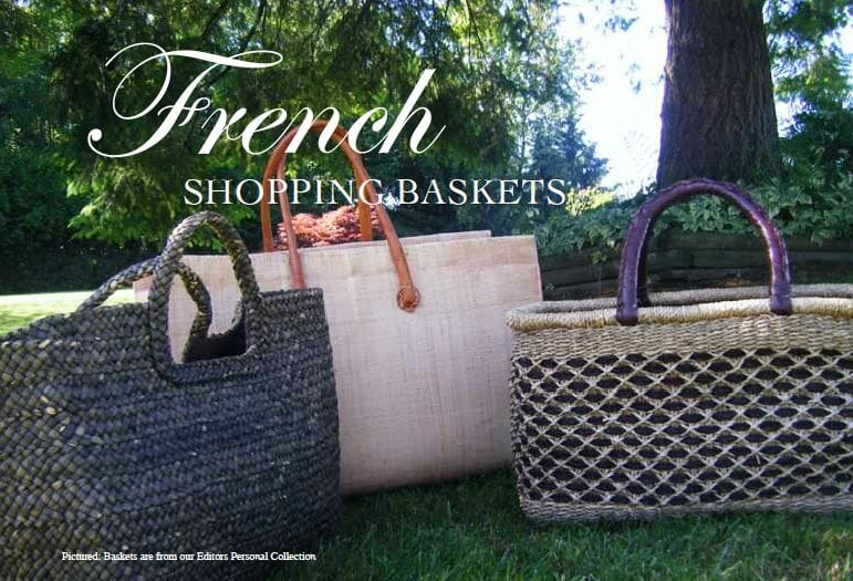 French shopping baskets Chic and Practical: French Shopping Baskets - EAT LOVE SAVOR International luxury lifestyle magazine, bookazines & luxury community
