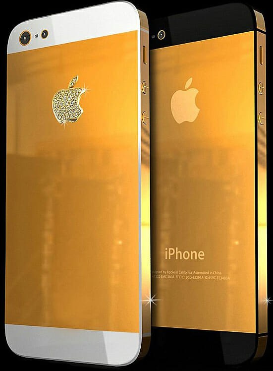 2pieces5cropped Jewelry and Technology Merge: Meet the Gold iPhone 5 - EAT LOVE SAVOR International luxury lifestyle magazine and bookazines