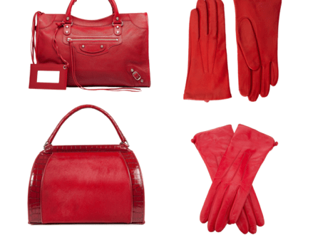 red bags and gloves 2012 Color Story: The Meaning of Red, plus Bags and Gloves! - EAT LOVE SAVOR International Luxury Lifestyle Magazine