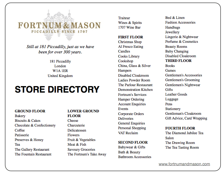 FORTNUM AND MASON STORE DIRECTORY DISCOVER: Fortnum and Mason. Purveyors of High Quality Goods Since the 1700's - EAT LOVE SAVOR International luxury lifestyle magazine, bookazines & luxury community