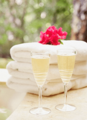 champagne and towels Discover: The Art of Taking a Bath - EAT LOVE SAVOR International luxury lifestyle magazine, bookazines & luxury community
