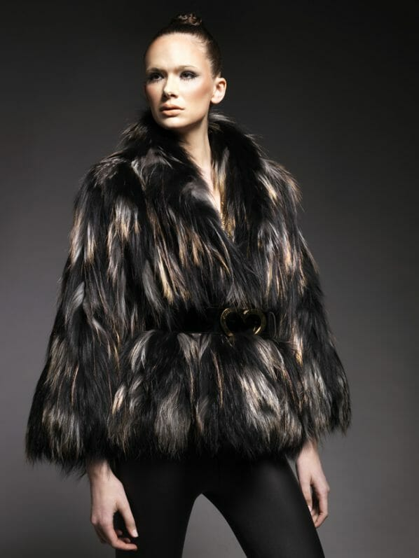 GOAT HAIR JACKET FRONT Discover: Mi Piaci the World's First 24kt Gold Leather & Fur Collection - EAT LOVE SAVOR International luxury lifestyle magazine and bookazines