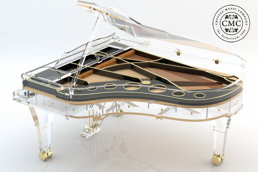 AMX BLACK AND GOLD 2 p Beauty and Music: Luxury Crystal Pianos - EAT LOVE SAVOR International luxury lifestyle magazine, bookazines & luxury community
