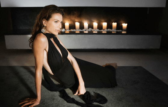 woman by candles