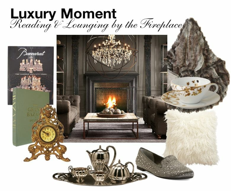 Screen shot 2013 12 24 at 6.51.04 AM Luxury Moment: Reading and Lounging by the Fireplace - EAT LOVE SAVOR International luxury lifestyle magazine, bookazines & luxury community