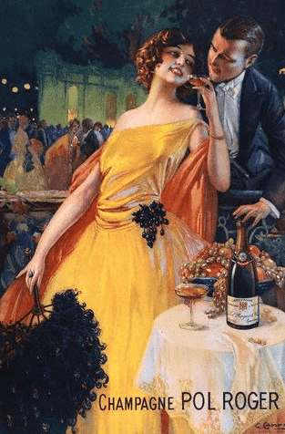 Champagne Pol Roger Poster by Gaspar Camps The Family of Pol Roger Champagne and their Famous Friend Sir Winston Churchill - EAT LOVE SAVOR International Luxury Lifestyle Magazine