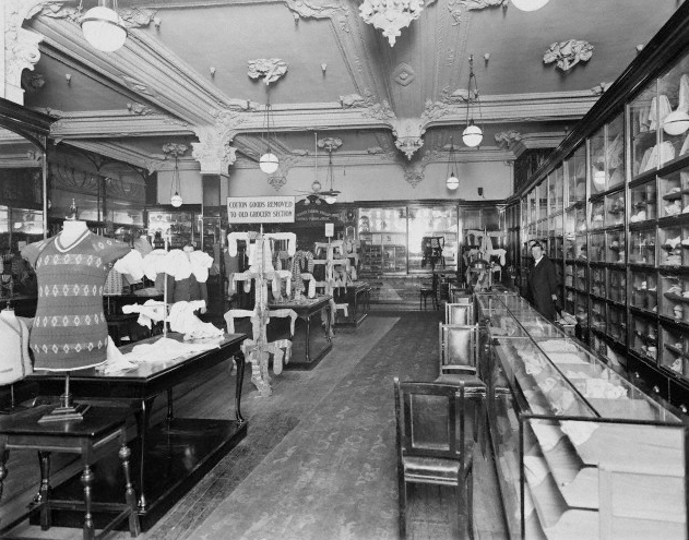 Harrods menswear department 1930