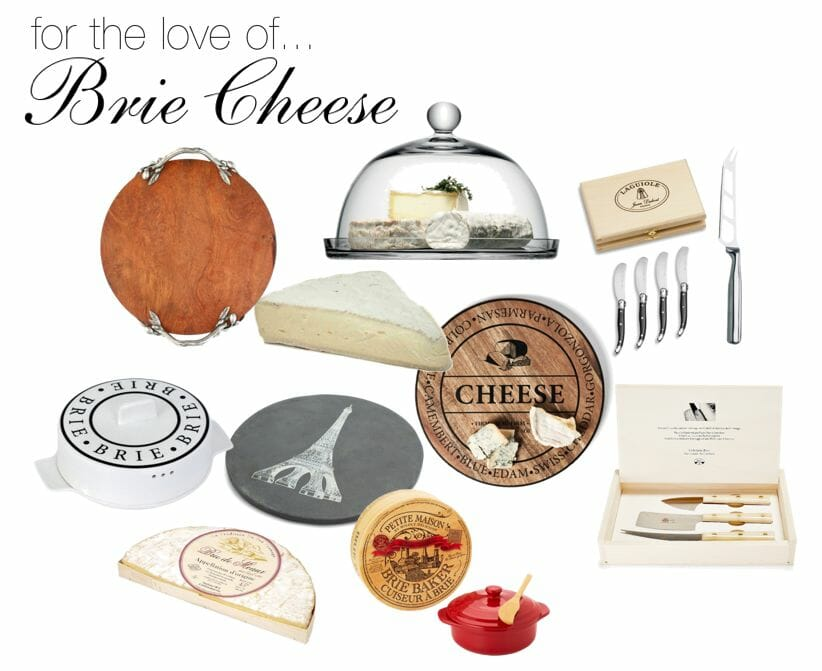 brie cheese and accessories