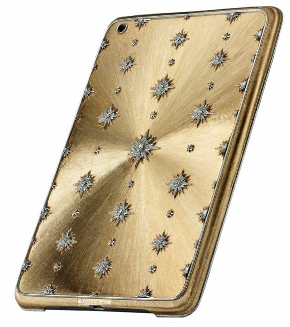 Buccellati diamond iphone cover Buccellati Marries Past and Present to Create a High Jewelry Tech Collection - EAT LOVE SAVOR International Luxury Lifestyle Magazine