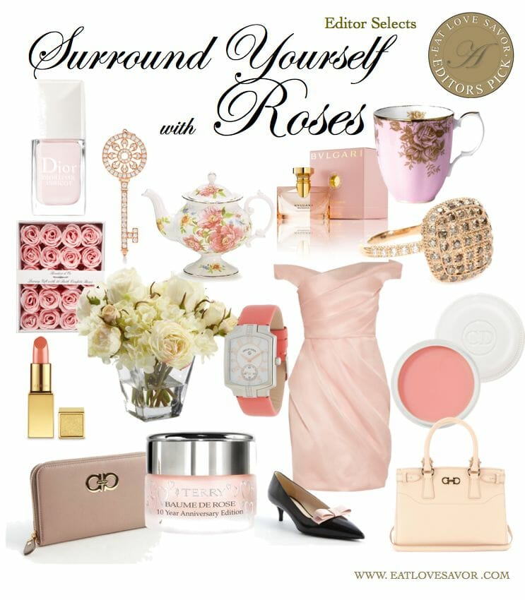 editor selects surround yourself with roses