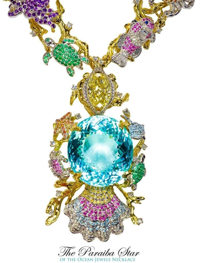 touramaline necklace.jpg large Her Name is Ethereal Carolina Divine Paraiba and She is is Flawless: All 191.87 Carats of Her! - EAT LOVE SAVOR International luxury lifestyle magazine, bookazines & luxury community
