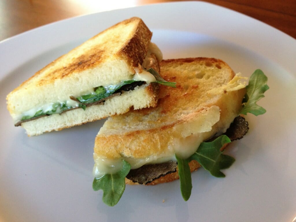 Grilled Cheese with Truffle Oil Recipe: Grilled Cheese with Truffle Oil, Arugula and Summer Truffles - EAT LOVE SAVOR International luxury lifestyle magazine and bookazines