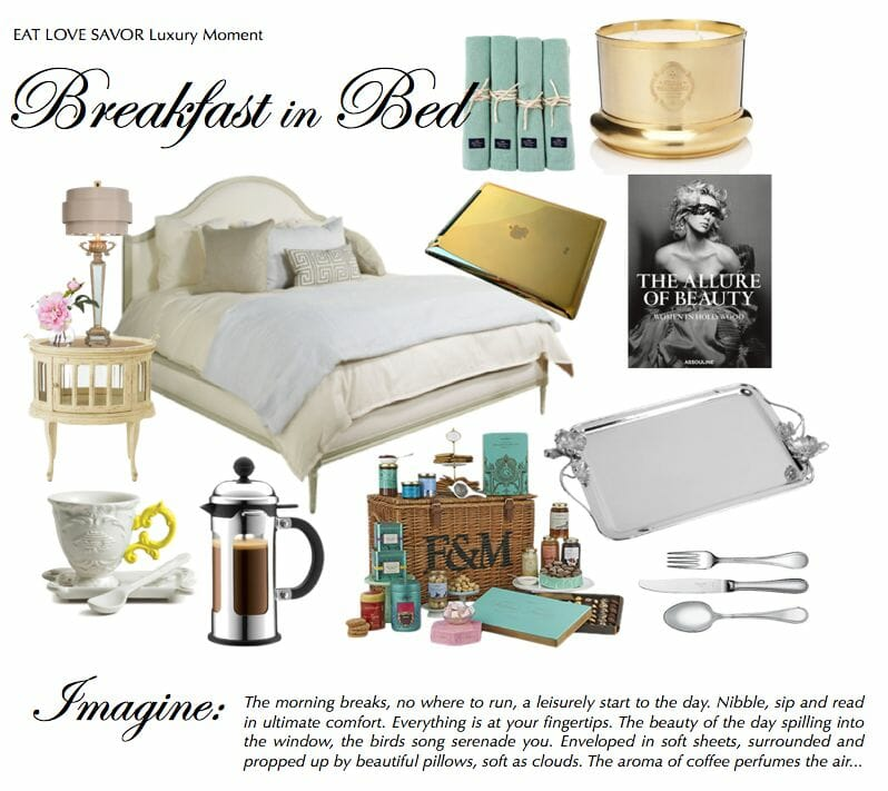 breakfast in bed Luxury Moment: A Leisurely Breakfast in Bed - EAT LOVE SAVOR International luxury lifestyle magazine and bookazines