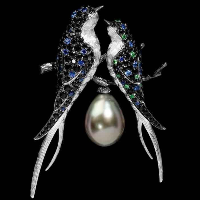 brooch by mousson atelier Discover: Mousson Atelier: Beauty in Russian Luxury Jewelry Design and Production - EAT LOVE SAVOR International Luxury Lifestyle Magazine