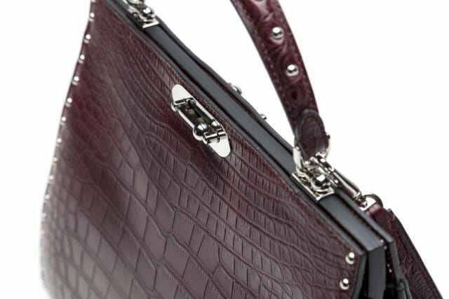 BERTONI1949 DORIANA TOP HANDLE IN ALLIGATORE E FRENCH CALF