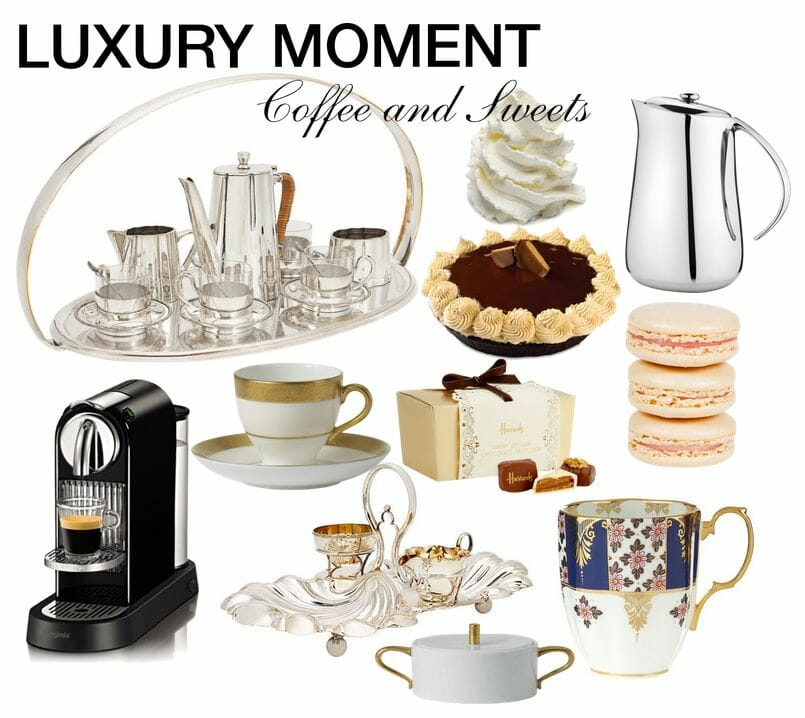 luxury moment coffee and sweets Luxury Moment: Coffee and Sweets - EAT LOVE SAVOR International Luxury Lifestyle Magazine