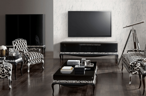 Jetclass luxus living room black Timeless Design and Modern Technology: Luxury Furnishing from Jetclass - EAT LOVE SAVOR International luxury lifestyle magazine and bookazines