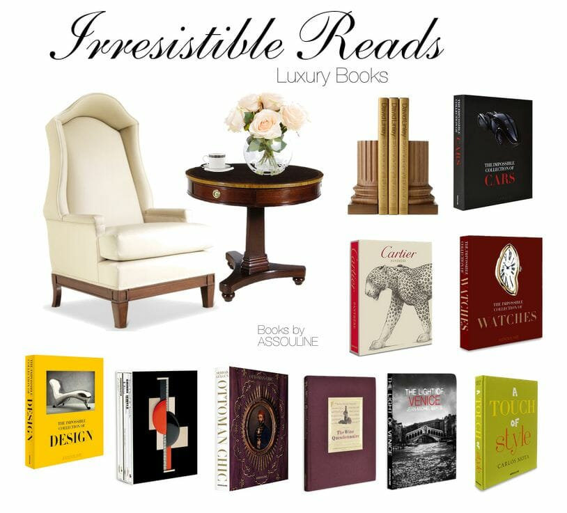 luxury moment with a great assouline book