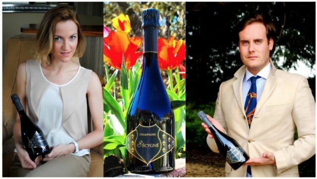 champagne Secygne with founders