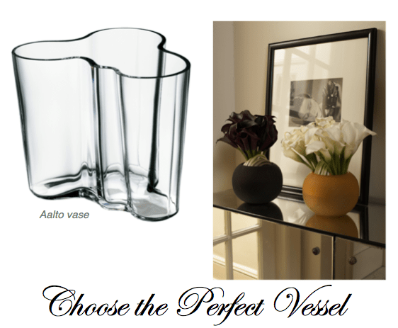 choose perfect vessel for flowers aalto vase