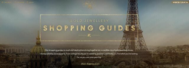 love gold shopping guides and website