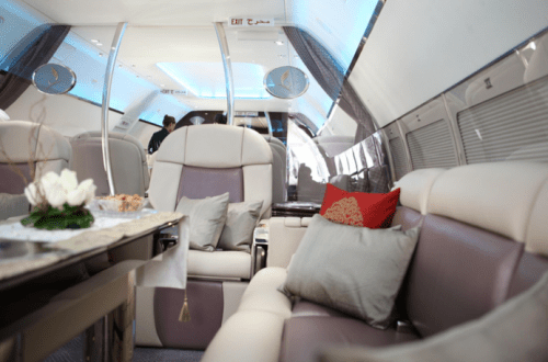 flymenow jet interior Fine Dining Experience at 30,000 ft: Enhanced Charter Catering is on the Menu - EAT LOVE SAVOR International luxury lifestyle magazine and bookazines