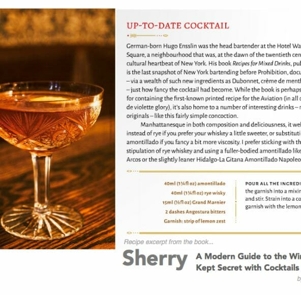 up to date cocktail from book sherry