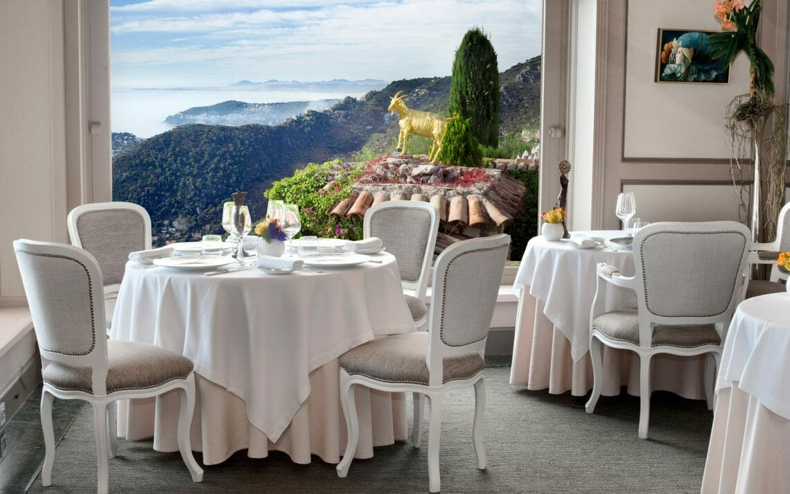 Le Chevre dOr France corsica Dining in the Mediterranean: Top Seaview Restaurants - EAT LOVE SAVOR International luxury lifestyle magazine, bookazines & luxury community