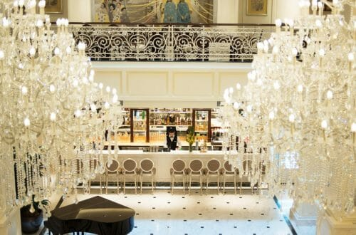 apricot hotel chandelier Luxury Hotel Pays Tribute to Vietnamese Art: Apricot Hotel - EAT LOVE SAVOR International luxury lifestyle magazine and bookazines