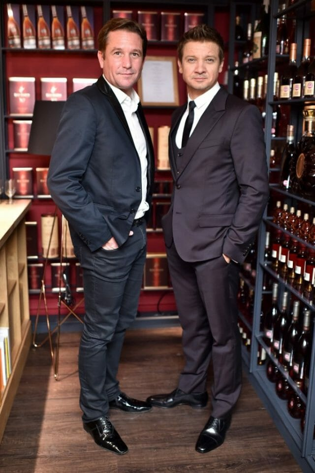 Eric Vallat and Jeremy Renner