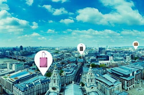 Airportr London city skyline bags locations AirPortr On-Demand Baggage Delivery Launched at London Heathrow - EAT LOVE SAVOR International luxury lifestyle magazine and bookazines