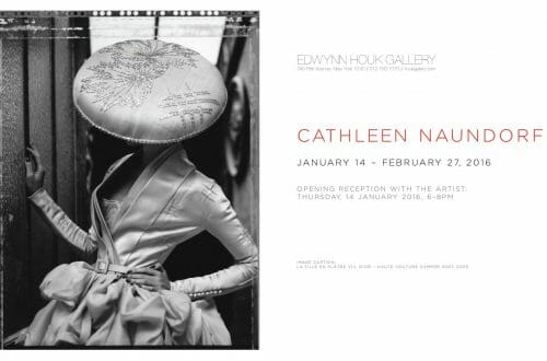Cathleen Naundorf Invitation Houk Exhibition Haute Couture From Paris To NYC - Polaroids By Cathleen Naundorf at Edwynn Houk Gallery - EAT LOVE SAVOR International luxury lifestyle magazine, bookazines & luxury community