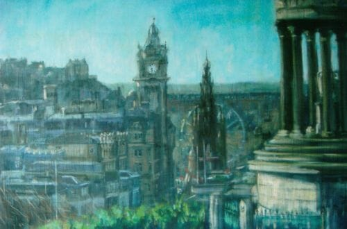 LUCY DICKENS buildings untitled 3 Behind the Brush: Painter, Lucy Dickens - EAT LOVE SAVOR International Luxury Lifestyle Magazine