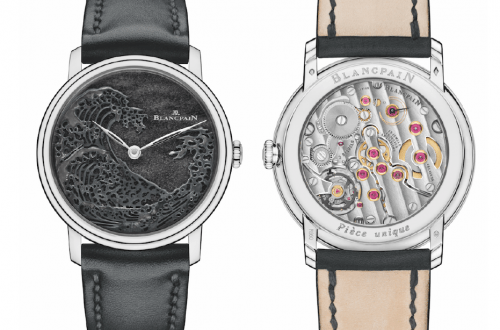 The Great Wave Blancpain front and back Blancpain's Métiers d'Art studio presents: The Great Wave - EAT LOVE SAVOR International luxury lifestyle magazine and bookazines
