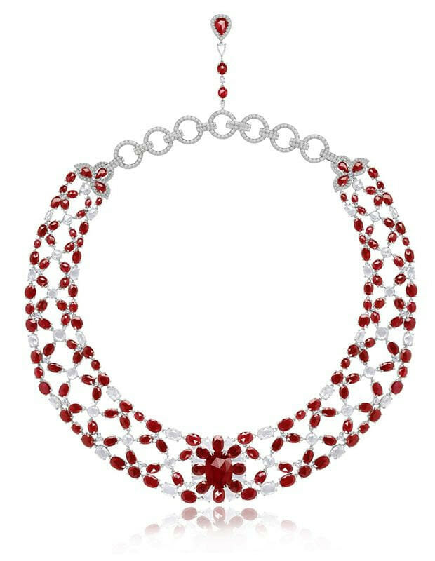 sutra ruby necklace
