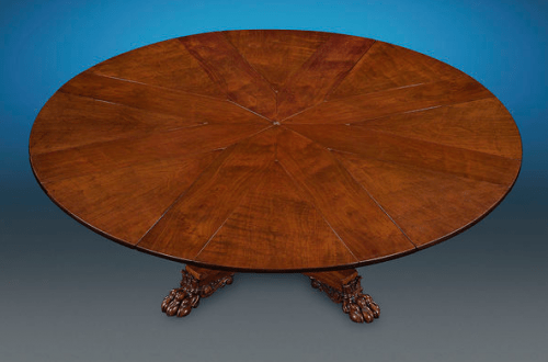 Robert Jupe expanding table with leaves Antiques: Rare Regency Period Mahogany Expanding Table - EAT LOVE SAVOR International luxury lifestyle magazine and bookazines