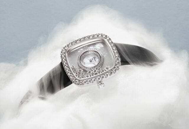 Chopard happy diiamionds watch square - luxury lifestyle magazine - eat love savor
