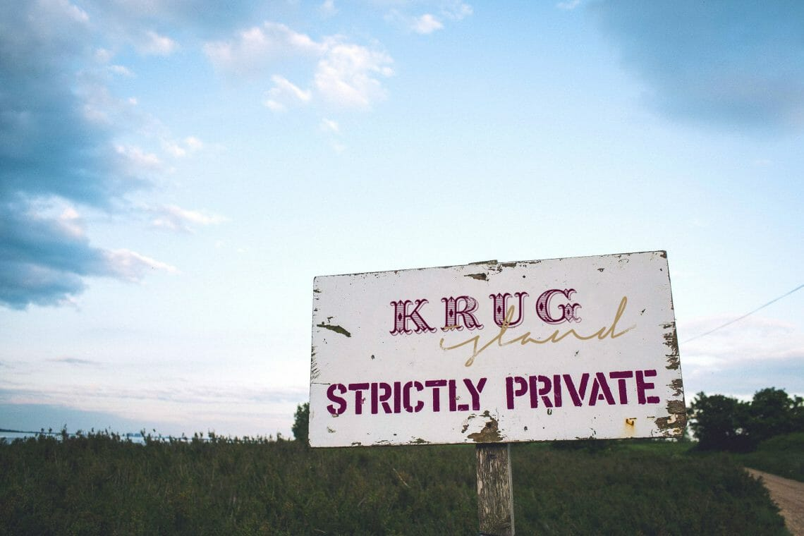 krug island sign 2 Maison Krug Fuses Michelin Starred Food, Krug Champagne and Original Live Music on Krug Island - EAT LOVE SAVOR International luxury lifestyle magazine, bookazines & luxury community