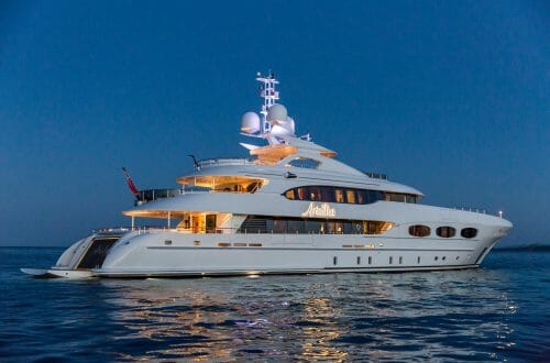 ARIADNA Night Profile e1470654026374 47m MY ARIADNA Yacht, Elegant, Classic and Incredibly Attractive - EAT LOVE SAVOR International luxury lifestyle magazine, bookazines & luxury community