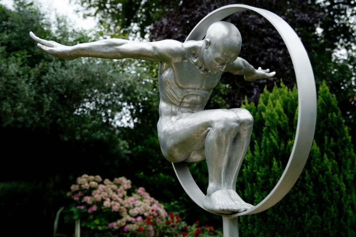 Volate by Lorenzo Quinn Rare Bronze Sculpture from Edition on Display at Prince Charles's Country Home Being Auctioned at Mallams - EAT LOVE SAVOR International Luxury Lifestyle Magazine
