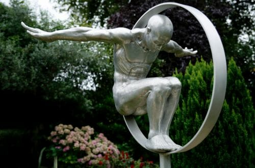 Volate by Lorenzo Quinn Rare Bronze Sculpture from Edition on Display at Prince Charles's Country Home Being Auctioned at Mallams - EAT LOVE SAVOR International luxury lifestyle magazine, bookazines & luxury community