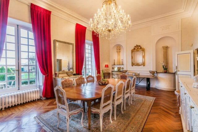 French chateau-haute-normandie-dining-room - eat love savor luxury lifestyle magazine