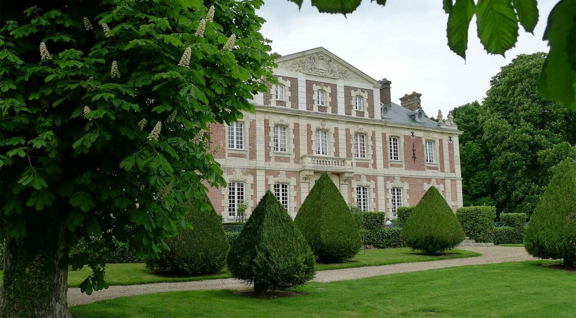 chateau Haute Normandie front Resplendent Chateau for a Discerning Connoisseur Seeking Sophisticated Magnificence and Exclusiveness - EAT LOVE SAVOR International luxury lifestyle magazine, bookazines & luxury community