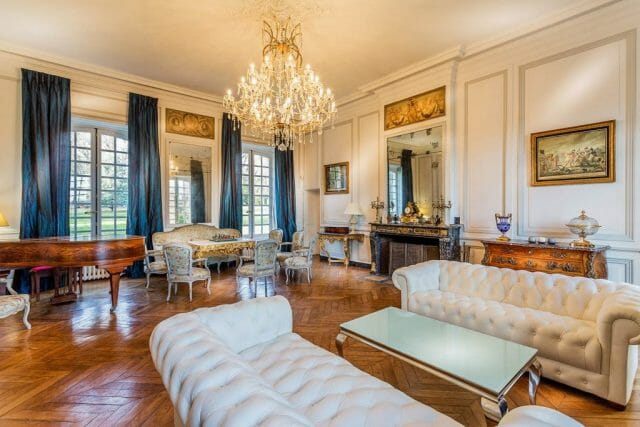 French chateau-haute-normandie-livingroom - eat love savor luxury lifestyle magazine
