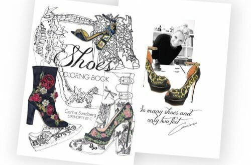 shoes coloring book Fun Book for Shoes and Fashion Lovers by Illustrator Carina Sundberg - EAT LOVE SAVOR International luxury lifestyle magazine, bookazines & luxury community