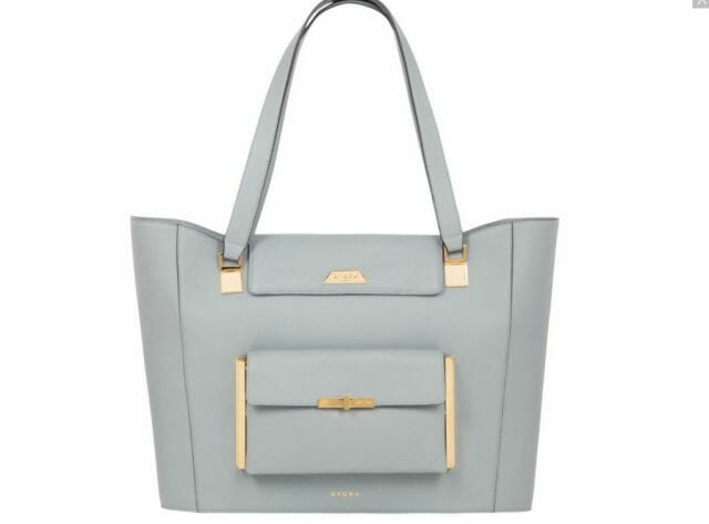 GYORK Kensington demi tote in calf leather - eat love savor - luxury lifestyle magazine
