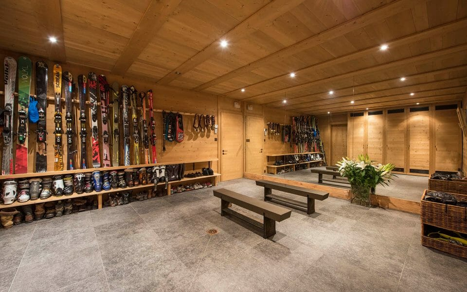 luxury chalet gstaad Aflabim ski room The 3 Best Alpine Ski Resorts for Families - EAT LOVE SAVOR International luxury lifestyle magazine and bookazines
